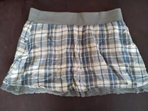 jupe mini bleu gris